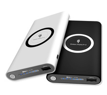 2018 New Product 2 in 1 10000mAh Fast Charging Qi Power Bank Wireless Charger
