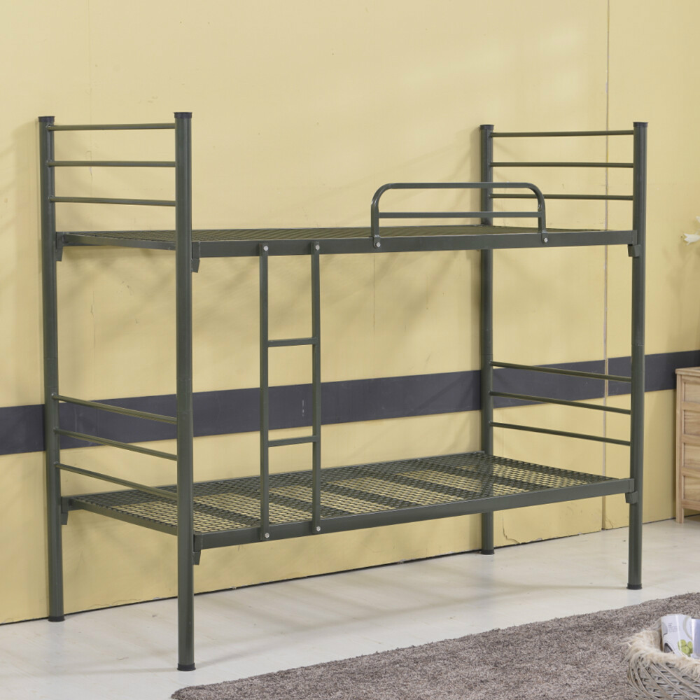 modern metal bunk bed with trundle bed from china factory