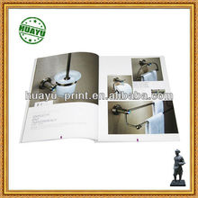 printing colorful VJASS company catalogue/printed towel frame product catalogue