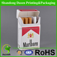 china oem foldable paper box for paperboard cigarette package/metallized paper tobacco pack