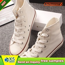 low price blank white for painting canvas shoes