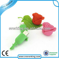 cheap promotional pvc rose wedding gift usb memory stick