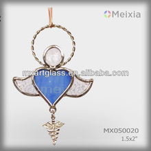MX050020 china wholesale tiffany style stained glass angel wall hanging ornament for christmas gift set