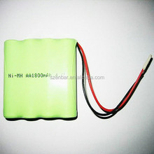 ni-mh 600mAh 4.8v AAA rechargeable battery pack for flashlight