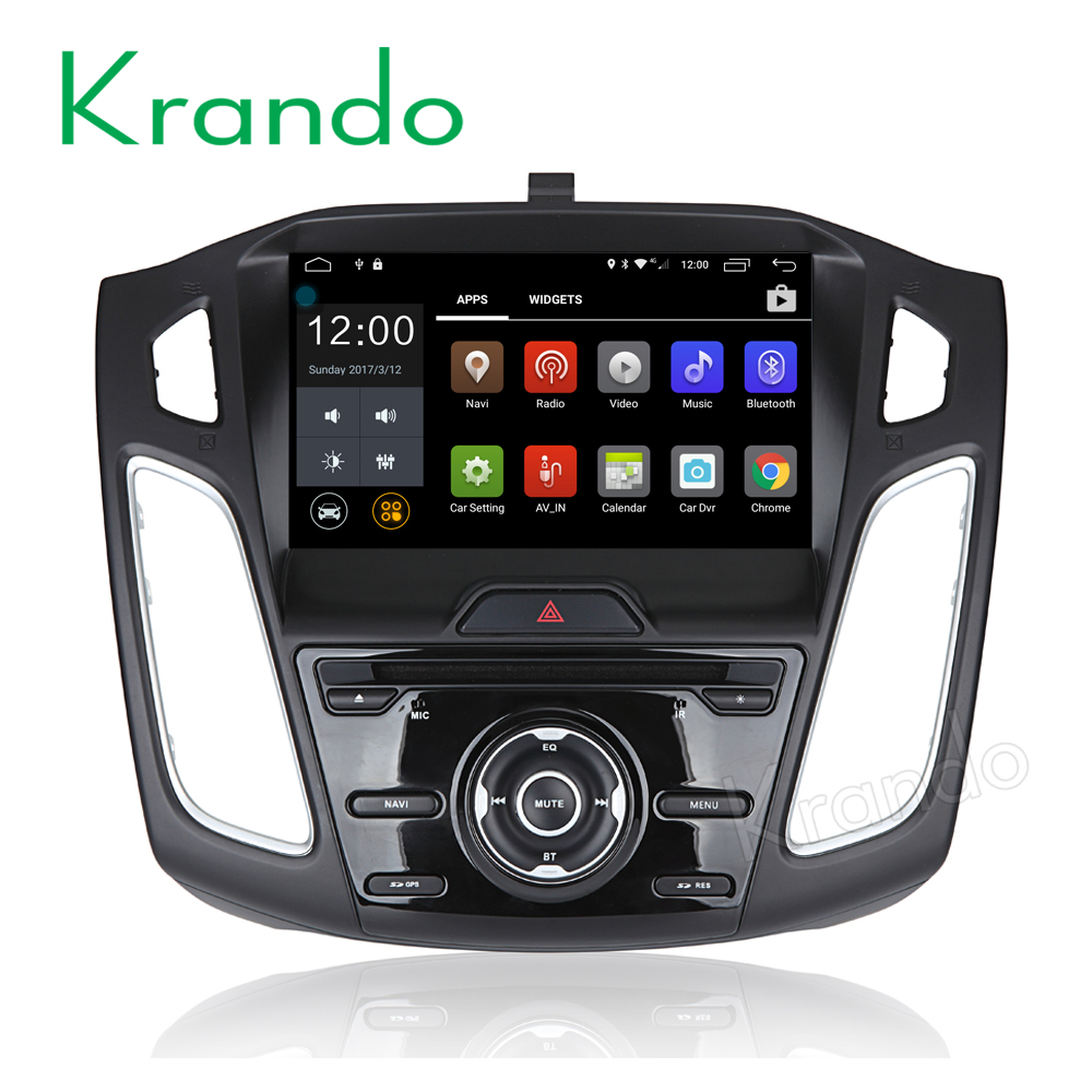 Krando Android 6.0 support 4G sim card car navigation dvd player for ford for focus 2015+ double din radioTV DAB+ KD-FF815