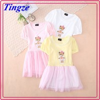 Fashion children summer new frock pretty printed princess tutu baby latest girl dress designs