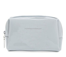 Womens Fashion gloss lamination convenient Cosmetic Make-up Bag with special Design with grey lining cloth