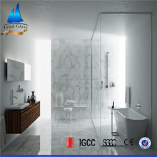 One way fixed shower door glass