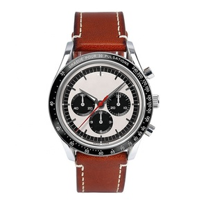 Custom Luxury Classical design OEM Men Watch Leather Chronograph Watch for Men