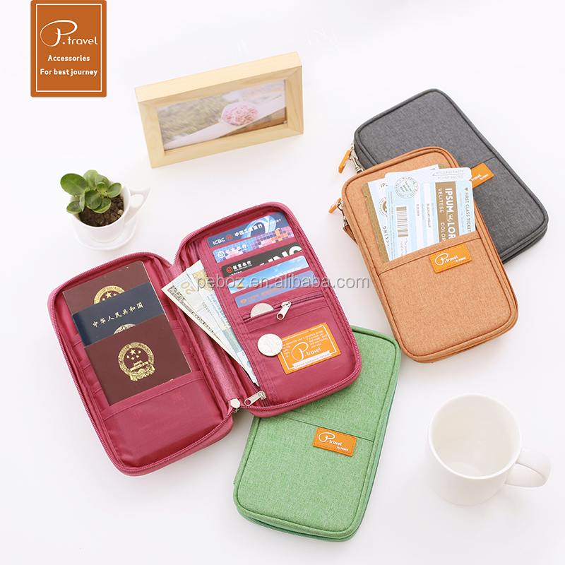 High Quality Travel Passport Holder Airline Tickets Holder Nylon Passport Card Holder