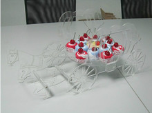 Clear Acrylic Cake cinderella carriage wedding cake holder (FD-A-377)