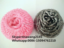 kitchen scourer wool/cleaning brush from china