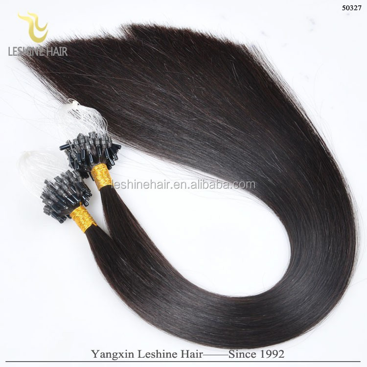 Factory Supply Top Quality Double Drawn Thick Bottom Italy Keratin 0.5g 0.8g 1g 2g remy brazilian micro braid hair extensions