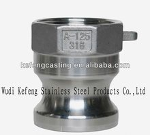 stainless steel flat face hydraulic quick coupling