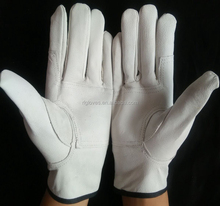 Pig Grain Leather Lining Safety Working Driver Glove