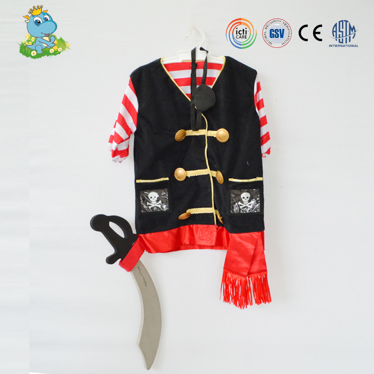 Child party cosplay factory custom pirate cosplay costume school uniform