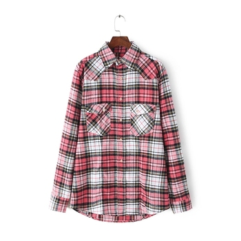 100% cotton men's yarn dyed flannel check/plaids shirt ,long sleeve flannel shirt