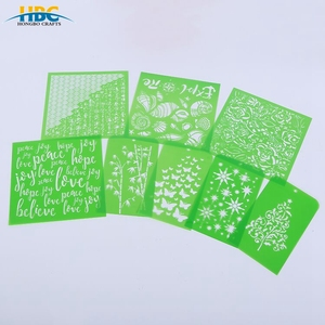 PP / PVC Stencils Customized Plastic Stencils With / Without Adhesive