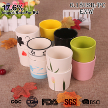 0.18USD/PC-cheap mini color glazed hand painted ceramic small flower pots for plant indoor