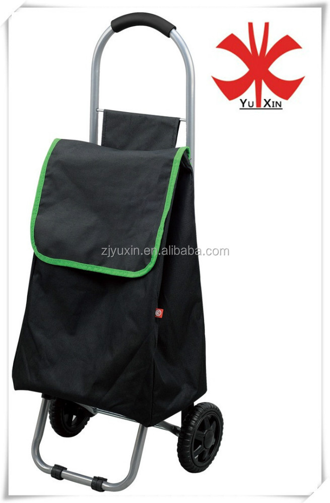 YX-6201C new folding shopping trolley bag/shopping trolley bag with two wheels