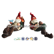 New resin spring shelf sitter indoor garden gnome