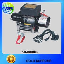 Made in china 6000LBS off road electric winch fast line speed electric winch