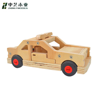 China Factory FSC&BSCI Christmas crafts 3-12 year kids self assemble DIY wooden small car toy for students educational