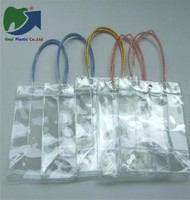 PVC bag for keeping the wine icy Clear Cosmetic Pvc Pp Transparent Plastic Bag For Shopping