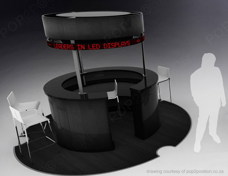 360 degree LED kiosk