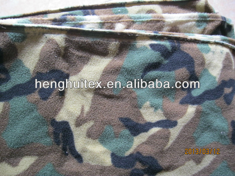 Military/Army/Police Camouflage print anti-pilling fleece fabric