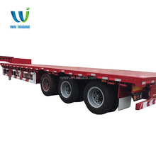 Three axle Low bed truck semi trailer factory price