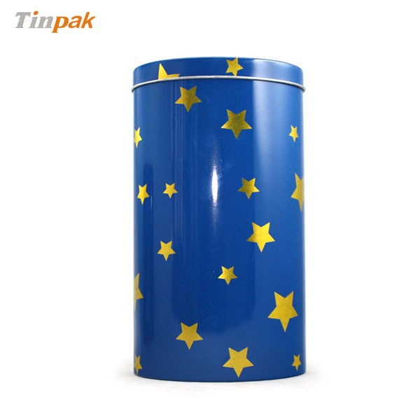 cylinder biscuit tin airtight container