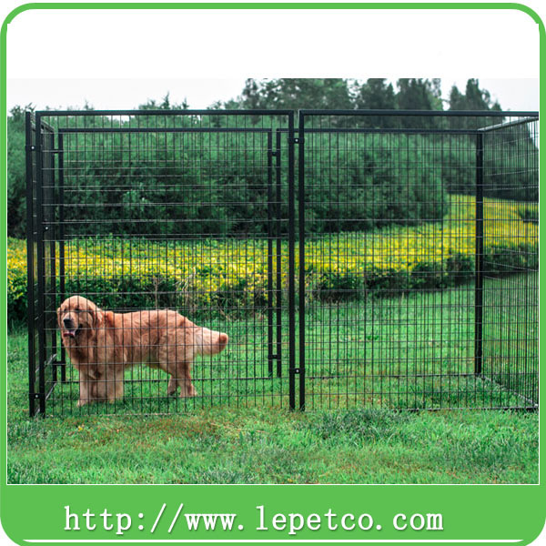 Large outdoor galvanized dog kennel welded wire fence panels big dog kennel