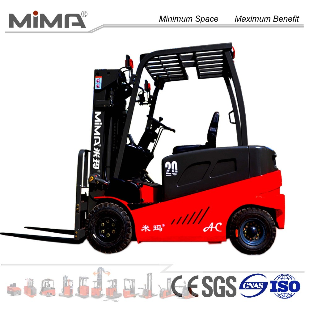 MIMA seated battery operated 4-wheel forklift TK series with USA Curtis controller and max.5000kg load capacity