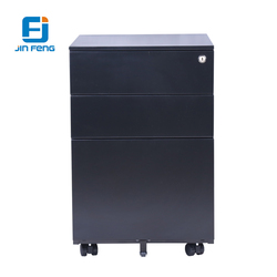 Metal Steel 3 Drawers different color Mobile Filing Cabinet/Storage pedestal with Wheels for Office/hospital/hotel/department