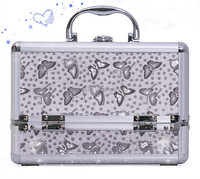 Custom aluminum makeup cases for women use RZ-SC-177