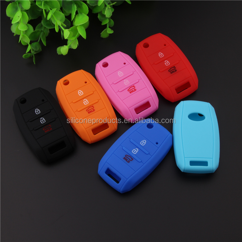 Protective Fob Skin Key Case Cover,Silicone Rubber Smart Remote Key Case