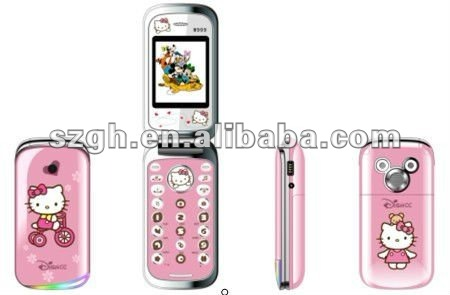 lovely quad band dual sim TV Flip cell phone w999