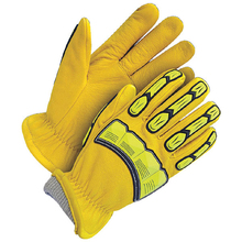 winter warm cotton palm top quality tpr impact protective mechanic glove/ gloves