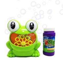 New frog kids soap bubble maker machine for kids