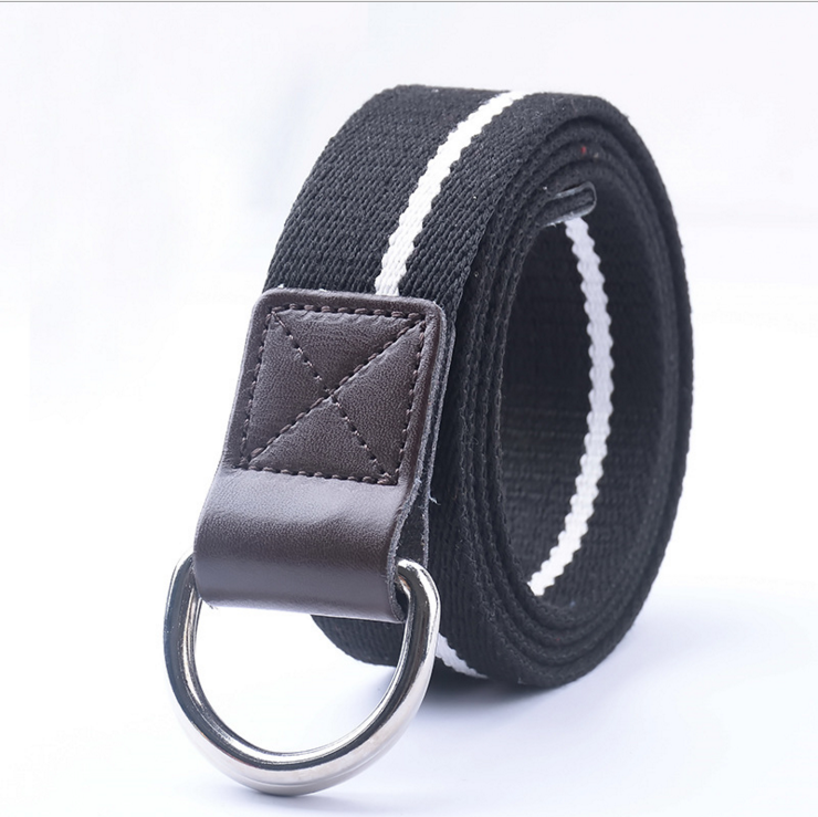 fashion custom military canvas belt with metal buckle