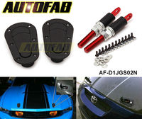 Universal Racing Mount Bonnet Plus Flush Hood Latch Pin Locking Kit Black Metal JDM D1 AF-D1JGS02N