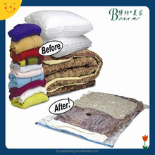 Use PA+PE or PET+PE vacuum seal storage bags