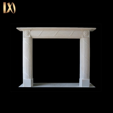 Customized wall hanging white marble column fireplace / fireplace mantel