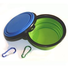 Collapsible Dog Bowl, Food Grade Silicone BPA Free FDA Approved, Foldable Expandable Cup Dish for Pet Cat Food Water Feeding Po