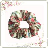 Korean Hair Accessories Fabric Flowers Wholesale Hair Scrunchies Hair Ponytail Holder
