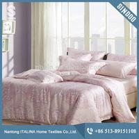 Home bedding set raw silk duvet 100 Tencel fabric