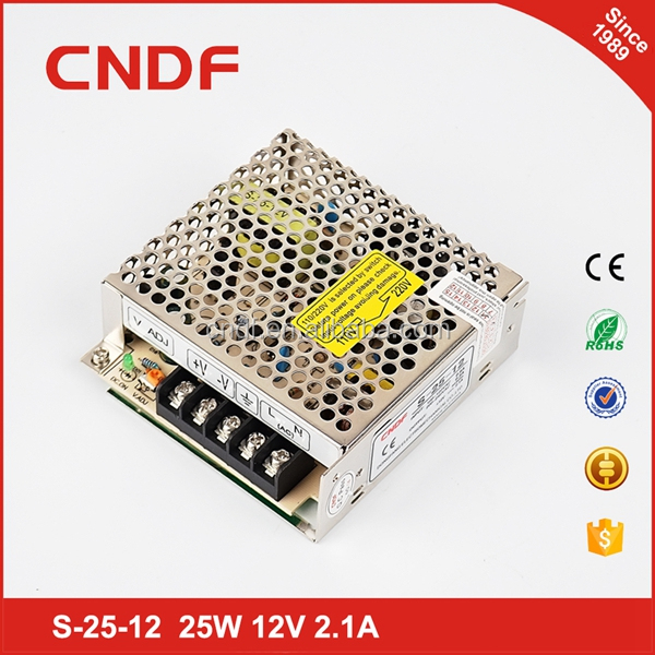 CNDF CE ROHS KC UL certification 25W 2.1A 12V single output power supply