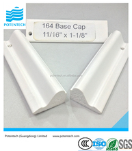 Lead-free Home Decoration Base Cap PVC Ceiling Moulding