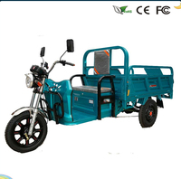 48V1000W brushless Real Axle Differential Motor 3 wheel open body with cargo electric tricycle for sale